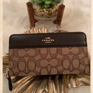 Coach Large Brown Monogram Wallet